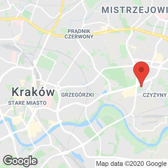 Mapa lokaliacji Aleja Pokoju - ul. Na Łąkach 9