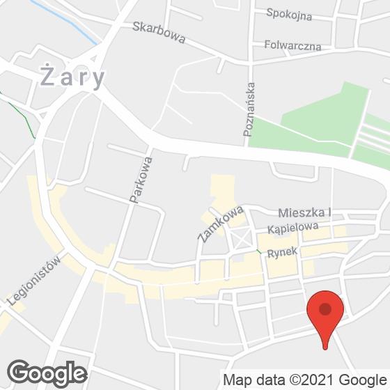 Mapa lokaliacji Wełna Żary