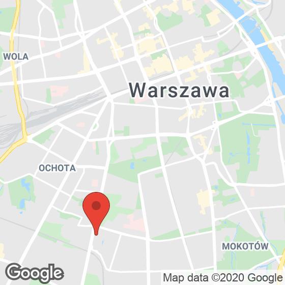 Mapa lokaliacji Marina Mokotów