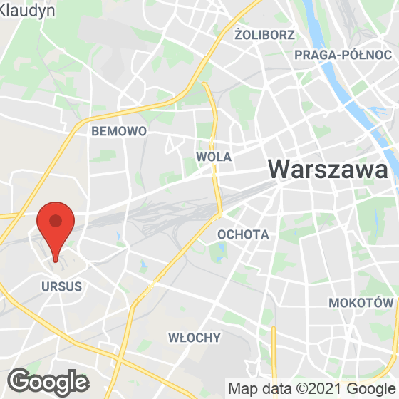 Mapa lokaliacji Ursus Factory
