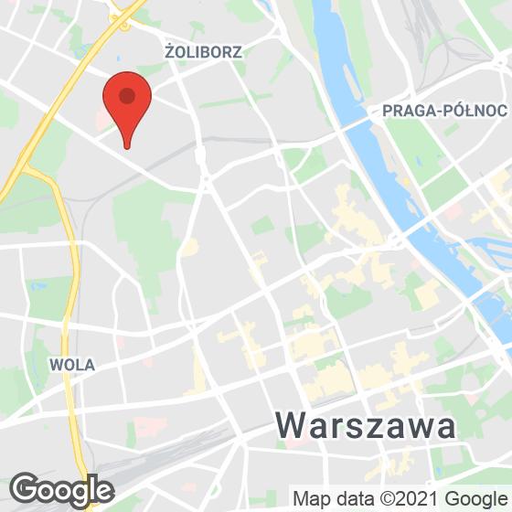 Mapa lokaliacji Żoliborz Artystyczny