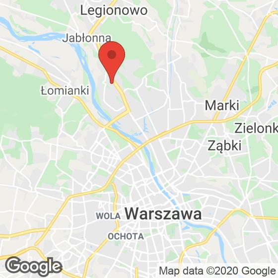 Mapa lokaliacji Przystanek Tarchomin